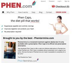 Phen Caps website