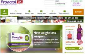 Proactol XS Australia website